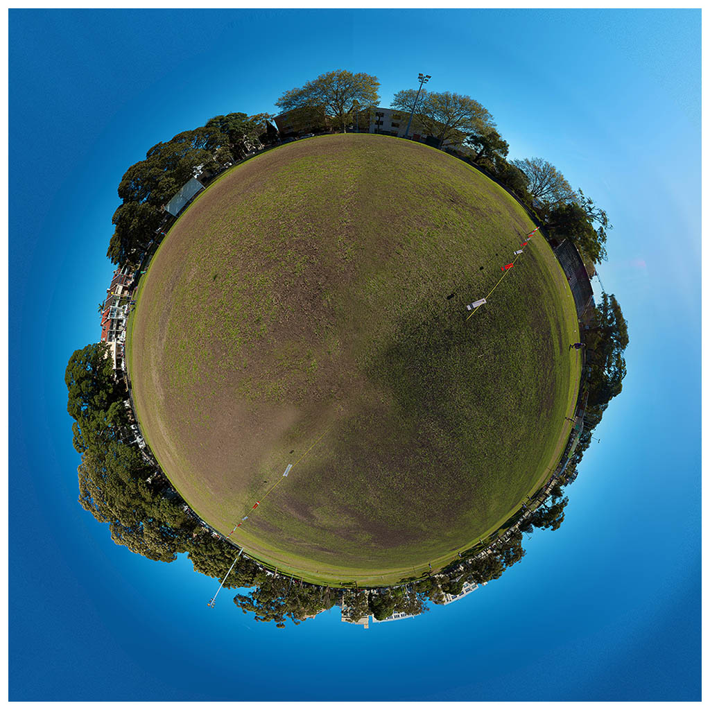 little planet                       photography camperdown oval